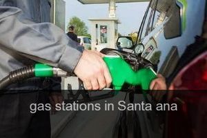 Gas stations in Santa ana (City)