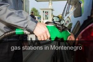 Gas stations in Montenegro